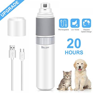 [Upgraded Version ] Dust2Oasis Dog Nail Grinder Pet Grooming Nail Clippers now 40.0% off ,Stepless..