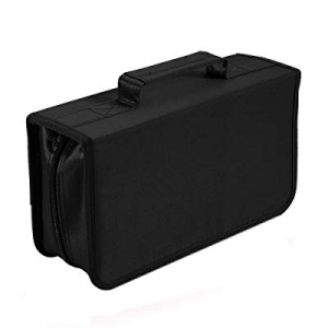 40.0% off CD DVD Case 128 Capacity Portable DVD Holder Multimedia Discs Storage Compact and Easy t..