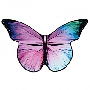 HYSEAS Microfiber Beach Towel now 40.0% off , Purple Butterfly Printed 63x40 inch Oversized Swimmi..