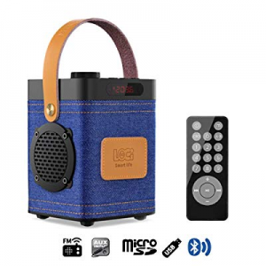 One Day Only!InstaBox P70 Denim Portable Outdoor Speaker Work with Bluetooth FM Radio USB TF Super..