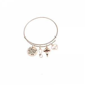 Luvalti Charm Bracelet Adjustable Bangle Gift for Women Girl Sister Mother Friends Bangle Bracelet..