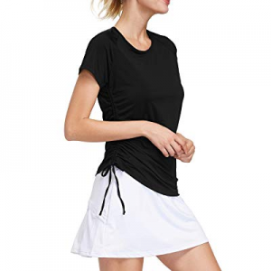 Cityoung Short Sleeve Tennis Shirts Quick Drying Yoga Tops Active Golf Workout Pullover now 70.0% ..