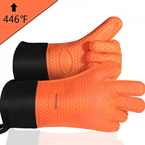 Homemaxs BBQ Gloves now 20.0% off , Heat Resistant Grilling Gloves Silicone Oven Mitts with Extra ..