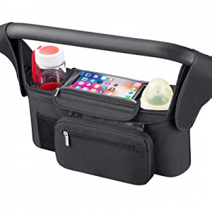 Universal Stroller Organizer [Upgraded] for Smarter Mom with Premium Deep Insulated Cup Holder now..