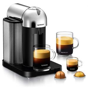 Breville Nespresso Vertuo 浓缩胶囊咖啡机,铬 @Amazon