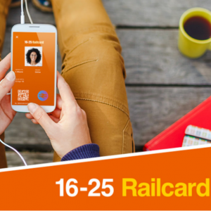 Get 1/3 off rail fares to travel across Britain @16-25 Railcard