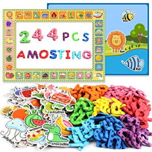 40.0% off AMOSTING Alphabet Magnets Toddler Toys Educational Magnetic Letters 244Pcs Refrigerator ..