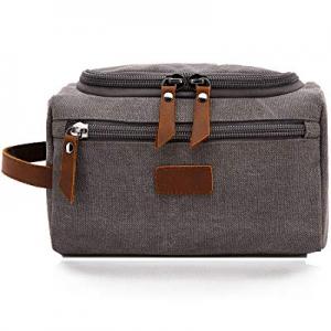 Men's Toiletry Bag Canvas Shaving Dopp Kit Travel Bathroom Bags Organizer now 15.0% off