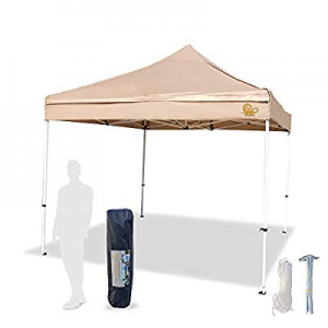 GZAIL Canopy Tent Commercial Instant Shelter 10X10 Khaki now 30.0% off