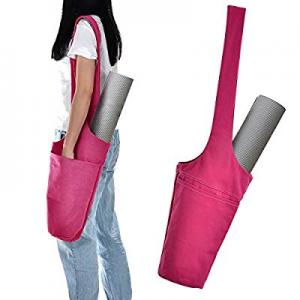 Kamo Yoga Mat Bag - Cotton Shoulder Bag with Storage 2 Pockets-Side Pocket &Zipper Pocket now 80.0..