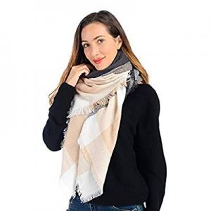 Scarf for Women now 50.0% off , Classic Plaid Scarf Winter Warm Oversized Tartan Wrap Shawl Fashio..