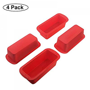 Set of 4 Silicone Mini Loaf Pan - SILIVO Non-Stick Mini Loaf Baking Pans now 40.0% off , Mini cake..