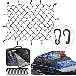 One Day Only!COROTC 3x4 inches SUV Cargo Net Truck Bed Bungee Nets now 60.0% off , Stretches to 6 ..