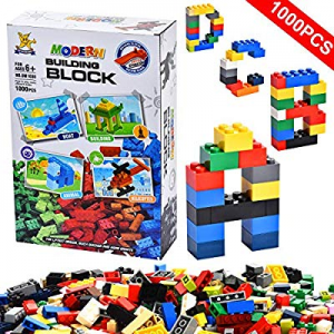 LYOUCI Building Bricks 1000 Pieces Set now 50.0% off ,Bulk Blocks Toy, ABS Puzzle Construction,Sta..