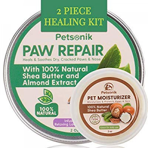 Paw Balm for Dogs Natural - 2-Pc Healing Kit now 15.0% off , Dog Paw Balm Lotion (2 oz) and Paw Cr..