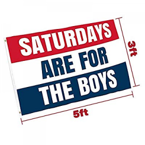 Saturdays are for The Boys Flag now 33.0% off , Polyester Cloth UV Resistant Fading Boy Saturday F..