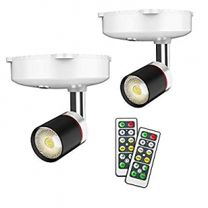 Wireless Spotlight now 40.0% off , LED Puck Light, 2 Pack Battery Operated Accent Lights Art Pictu..