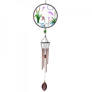 CREATIVE DESIGN CD-WC02 now 60.0% off , 32''H White Crane Wind Chimes, Portable Metal Garden Home ..