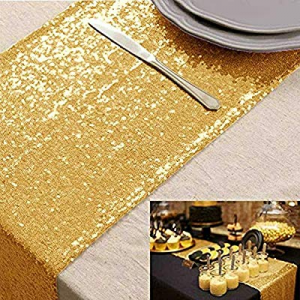 Adeeing Sequin Table Runner 12 x 108 Inch Glitter Rectangle Table Linen Party Supplies Table Decor..