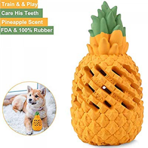 Coppthinktu Pineapple Dog Toys now 30.0% off , Interactive Dog Toy Ball, Dog Chew Toys Ball for Sm..