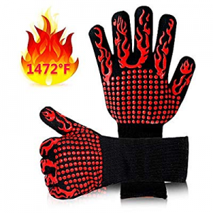 Mosteck Heat Resistant Gloves Up to 1472℉ now 50.0% off , Hot Pads Protective Gloves, EN407 Certif..