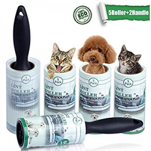 Lint Roller Pet Hair Remover Sticky Hair Roller for Clothes Dog Cat Hair 5 Pack now 70.0% off