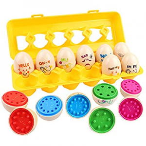 GobiDex Matching Eggs now 50.0% off , Egg Toy, Toddler Toys, Color Shape Number Matching Preschool..