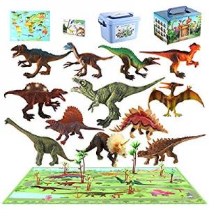 50.0% off MEIGO Dinosaur Toys - Toddlers 7'' Educational Realistic Dinosaur Figures w/ 31.5''x31.5..