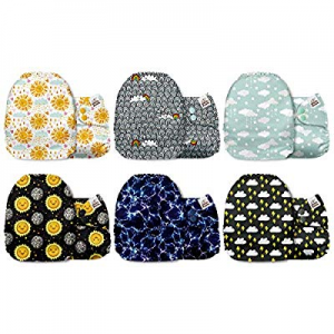 Mama Koala One Size Baby Washable Reusable Pocket Cloth Diapers now 15.0% off , 6 Pack with 6 One ..