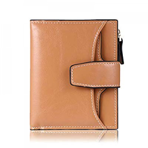 FT FUNTOR RFID Leather Wallet for Women now 40.0% off , Ladies Card Holder Wallet, Small Compact B..