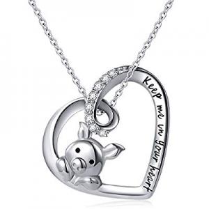 50.0% off 925 Sterling Silver Cute Pig Pendant Necklace Earrings Ring Bracelet for Women Girls Jew..