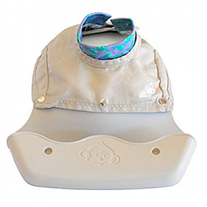 10.0% off The Little Monkey Company Silicone Bibs for Babies and Toddlers - Wipes Clean in Seconds..