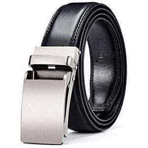 30.0% off DWTS Men's Belt Ratchet Genuine Leather Dress Belt for Men with Slide Click Buckle Adjus..