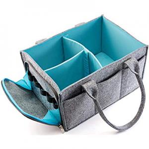 10.0% off Premium Baby Diaper Caddy Organizer | Portable Nursery Storage Bin | Car Seat Tote with ..