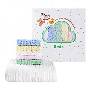 59.0% off Umiin Baby Towel and Washcloths Set - Premium Baby Shower Gift for Boys and Girls - Baby..