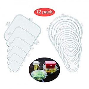 Silicone Stretch Lids Food Grade Flexible now 40.0% off , Reusable, Durable Food Covers Bowl Can L..