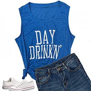 30.0% off Women Day Drinkin' Shirts Tank Tops Funny Casual Christmas Love Graphic Tees Tops Cute T..
