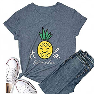 One Day Only!30.0% off Hellopopgo Pineapple Women's Funny Christmas Cute T Shirt Lover Short Sleev..