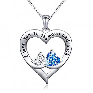 One Day Only!40.0% off Sterling Silver Mother and Child Sister Forever Love Heart Pendant Necklace..