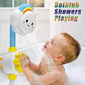 XLSTORE Cloud Baby Bath Toys Bathtub Showers Bathing Spouts Suckers Folding Spray Faucet now 80.0%..