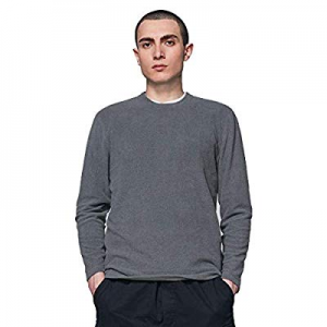 Mens Fleece Sweatshirt Crewneck Classic Lightweight Antistatic Pullover Sweaters now 50.0% off
