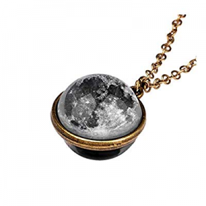 winwintom Glow in The Dark Galaxy System Double Sided Glass Dome Planet Necklace Pendant (1pcs-E) ..