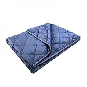 "YOLIPULI Weighted Blanket Adult Kids 15 lbs | 100% Bamboo Fabric | Twin Size | 48"" x 72"" Luxury Si.."