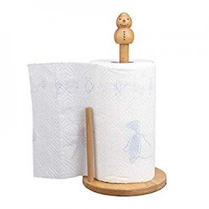 ChasBete Kitchen Vertical Paper Towel Holder Stand Countertop Cute Snowman Wood Tissue Holder Pape..