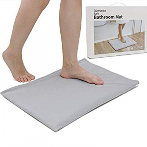 50.0% off ChasBete Soft Diatomite Bath Mat Diatomaceous Earth Powder with Cover Super Absorbent Fa..