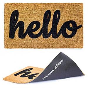 10.0% off Welcome mat | Hello Door mat for Front Door | Entryway Outdoor Floor mat | Cursive Hello..