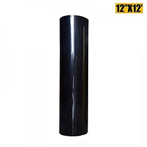 Heat Transfer Vinyl HTV for T-Shirts 12 Inches by 12 Feet Rolls (Black, 12inx12ft) now 80.0% off