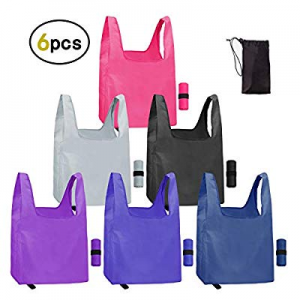 Reusable Grocery Bags 6 Pack Reusable Washable Grocery Bags Eco Friendly Machine Washable Foldable..