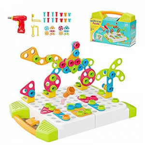 15.0% off Youwo STEM Learning Toys - Educational Building Design and Drill Toys Set Develop Fine M..
