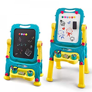 NextX Kids Easel for Two now 30.0% off , Adjustable Double Sided Art Easel Chalkboard and Magnetic..